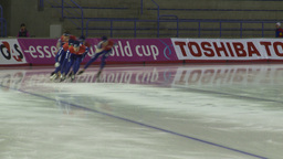 HD2009-12-1-16 Speed sk8 team pursuit Stock Video Footage