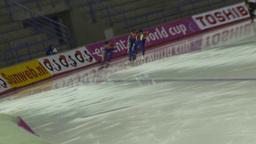 HD2009-12-1-18 Speed sk8 team pursuit dutch tilt Stock Video Footage