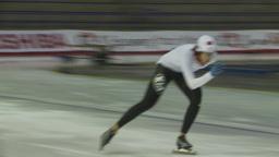 HD2009-12-1-20 Speed skaters practise Stock Video Footage