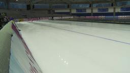 HD2009-12-1-22 Speed skaters practise Stock Video Footage