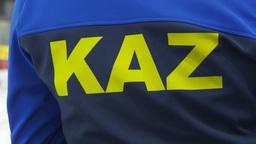 HD2009-12-1-32 Speed skate Kazikastan jacket Stock Video Footage