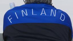 HD2009-12-1-38 Speed skate Finland jacket Stock Video Footage