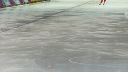 HD2009-12-1-46 Speed skaters practise lower Stock Video Footage