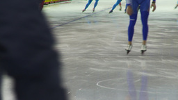 HD2009-12-1-46 Speed skaters practise lower Stock Video Footage