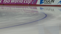 HD2009-12-1-50 Speed skaters practise lower Stock Video Footage