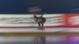 HD2009-12-1-54 Speed skaters practise blur follow Footage