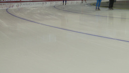 HD2009-12-1-58 Speed skaters practise corner no faces Stock Video Footage