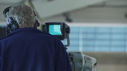 HD2009-12-1-62 broadcast TV cameraman Stock Video Footage