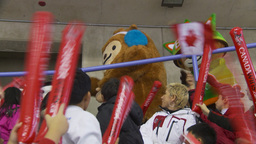 HD2009-12-1-64 2010 winter olympic mascots Stock Video Footage