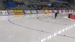 HD2009-12-1-68 Speed skating oval race follow Stock Video Footage