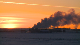 HD2009-2-1-11 Gas plant at sunrise Footage