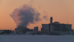 HD2009-2-1-15 power generation plant at sunrise Footage
