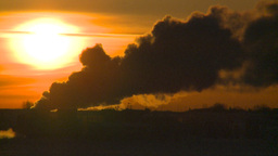 HD2009-2-1-25 Gas plant at sunrise Footage