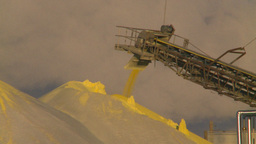 HD2009-2-1-33 sulfur pile steam Stock Video Footage