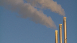 HD2009-2-1-39 smoke stacks Stock Video Footage