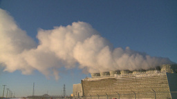 HD2009-2-1-47 power generation plant Stock Video Footage