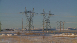 HD2009-2-1-55 elec substation Stock Video Footage
