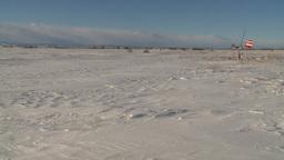 HD2009-1-1-2 aero vane snow airstrip WS Stock Video Footage