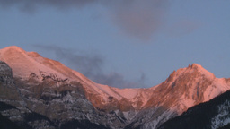 HD2009-1-1-8 sunrise over mtns Stock Video Footage