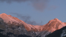 HD2009-1-1-8 sunrise over mtns Footage