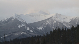 HD2009-1-1-16 snow mtn Banff Stock Video Footage
