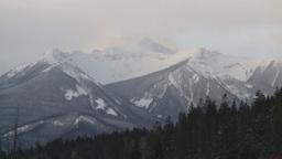 HD2009-1-1-16 snow mtn Banff Stock Video Footage