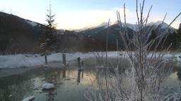 HD2009-1-1-26 sunrise winter spring Banff Stock Video Footage