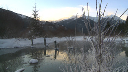 HD2009-1-1-26 sunrise winter spring Banff Stock Video Footage