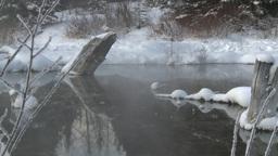 HD2009-1-1-30 sunrise winter spring Banff Stock Video Footage