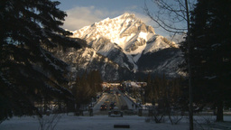 HD2009-1-1-32 Banff town icon shot Stock Video Footage
