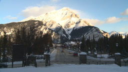 HD2009-1-1-34 Banff town icon shot Stock Video Footage