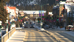 HD2009-1-1-36 Banff town icon shot Z Footage