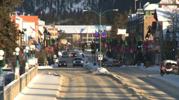 HD2009-1-1-36 Banff town icon shot Z Stock Video Footage