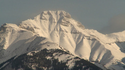 HD2009-1-4-2 snowy mtn afternoon Stock Video Footage