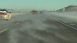 HD2009-1-4-4b drive on snowy highway Stock Video Footage
