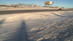 HD2009-1-4-6 car in ditch Stock Video Footage