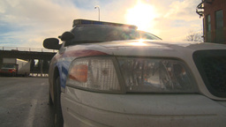 HD2009-1-5-3 police car Stock Video Footage