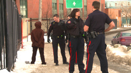 HD2009-1-5-5 police and suspect Stock Video Footage