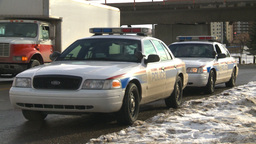 HD2009-1-5-7 police cars Footage