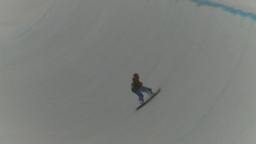 HD2009-1-5-9 snowbaord comp wipe out Stock Video Footage