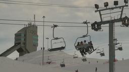 HD2009-1-5-11 ski hill ski jump tower Stock Video Footage