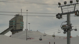 HD2009-1-5-11 ski hill ski jump tower Footage