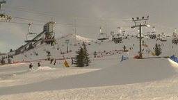 HD2009-1-5-13 ski hill ski jump tower Stock Video Footage