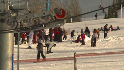 HD2009-1-5-17 ski hill ski lift gears Stock Video Footage