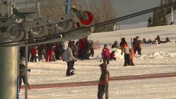 HD2009-1-5-17 ski hill ski lift gears Footage