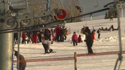 HD2009-1-5-17 ski hill ski lift gears Stock Video Footage