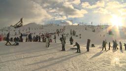 HD2009-1-5-19 ski hill Stock Video Footage