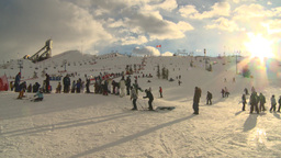 HD2009-1-5-19 ski hill Stock Video Footage