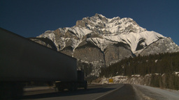 HD2009-1-6-7 Snow mtn Z to highway truck Stock Video Footage