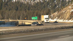 HD2009-1-6-9 highway transport truck Stock Video Footage